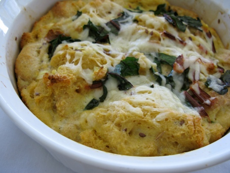 chard and asiago strata