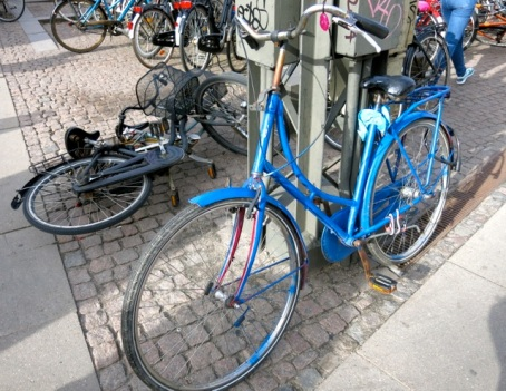 another blue bicycle