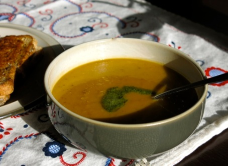 yam and garlic soup